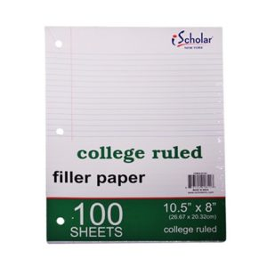 100CT Filler Paper College Ruled
