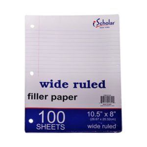 100CT Filler Paper Wide Ruled
