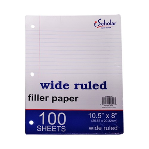 wide ruled paper Wide ruled paper is intended for use by grade school children and those with larger handwriting the chief advantage of loose-leaf paper is its flexibility and.