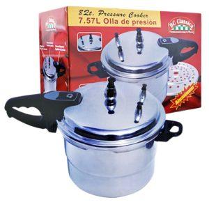 Aluminum Pressure Cooker 8 Qt