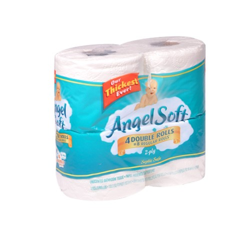 Angel soft bathroom tissue 4 double rolls union for Softest bathroom tissue