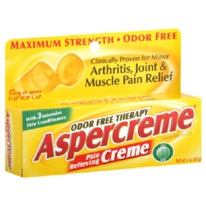 Aspercreme Pain Relieving Creme, Maximun Strength, With Aloe 3.75 oz (106 g)