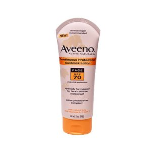 Aveeno Sunblock Lotion Face SPF 70 3 OZ