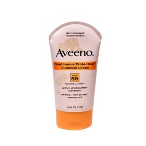 Aveeno Sunblock Lotion SPF 55 4 OZ