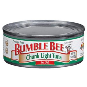 Bumble Bee Chunk light Tuna in Oil 5 Oz