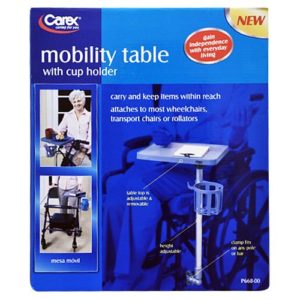 Carex Mobility Table with Cup Holder