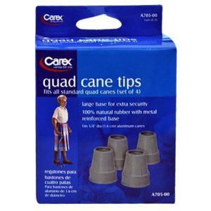 Carex Quad Cane Tips (Set of 4)