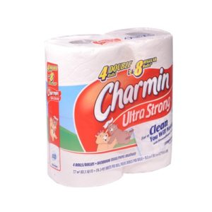 Charmin Ultra Strong Rolls, 4 Rolls