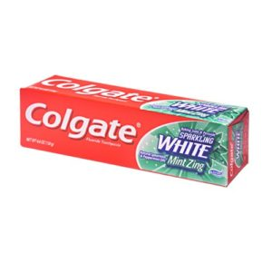 Colgate Toothpaste Sparkling White Mint Zing 4.4 OZ