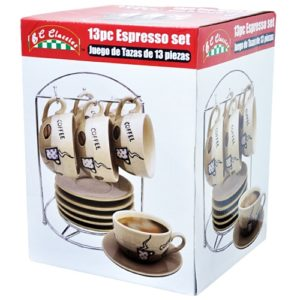 Espresso Set with Rack (13 piece)