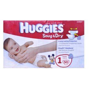 Huggies Snug & Dry Size 1-50 U