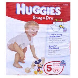 Huggies Snug & Dry Talle 5 -27 U