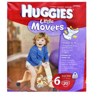 Huggies Supreme Little Movers Size 6 -20 U