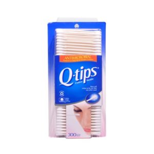 Q-Tips Cotton Swabs Antimicrobial 300 CT